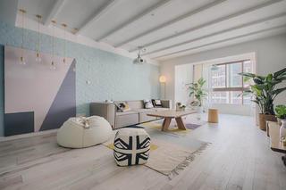 北欧风格三居沙发背景墙图片