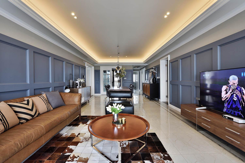 美式公寓装修沙发背景墙图片