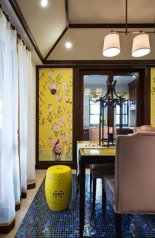 大户型东南亚风格装修餐厅设计图