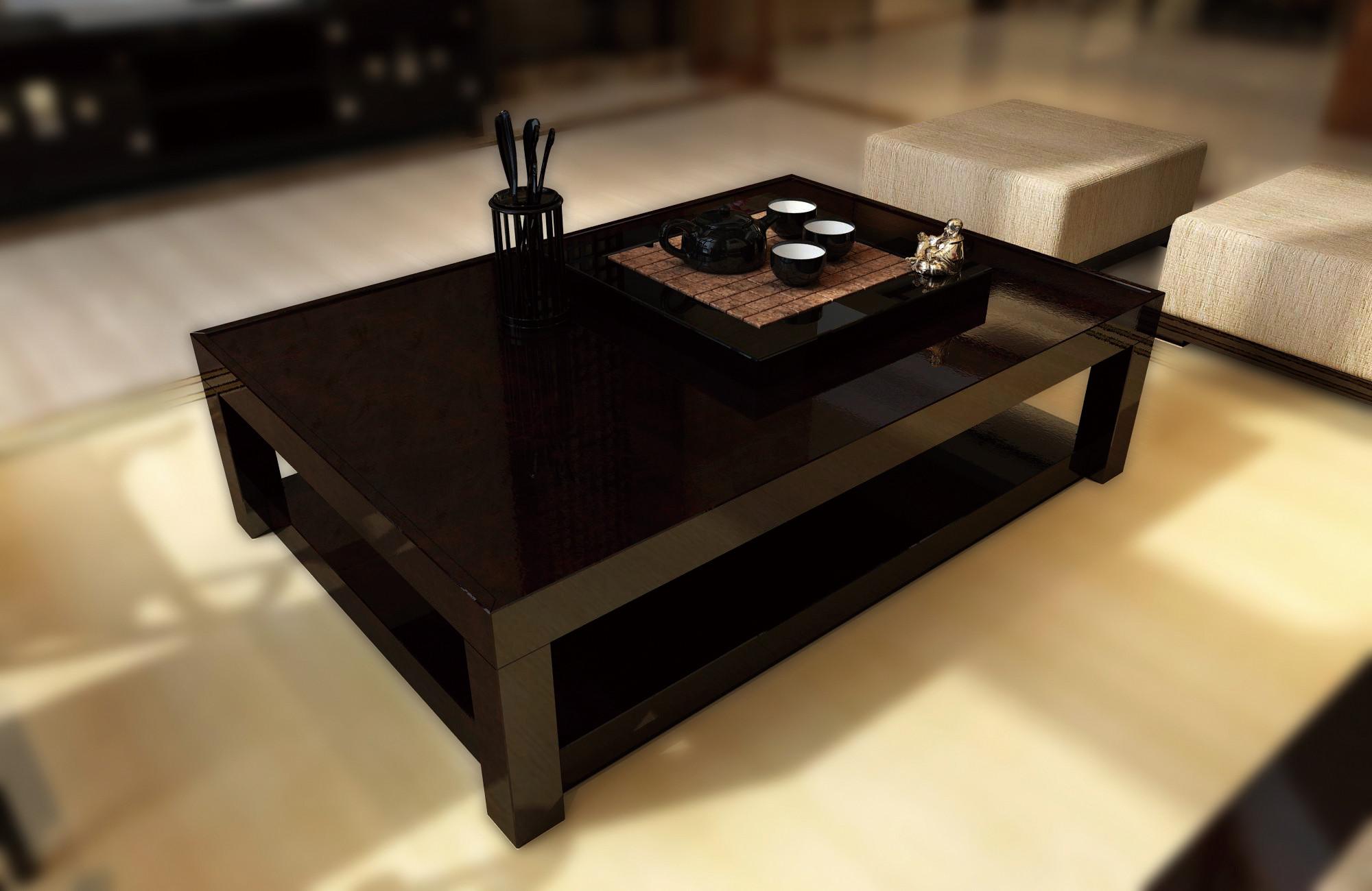 中式别墅装修茶几图片
