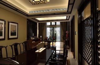 中式别墅装修餐厅设计图