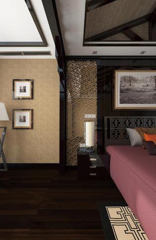 中式别墅装修床头柜图片