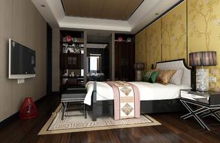中式别墅装修客卧效果图