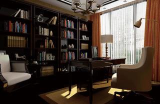 中式别墅装修书房设计图