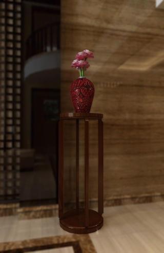 中式别墅装修花瓶图片