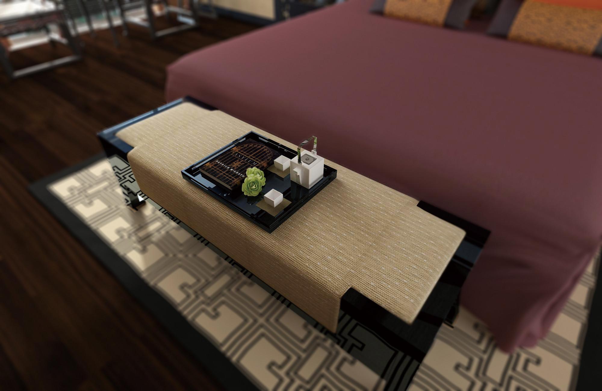 中式别墅装修茶台图片