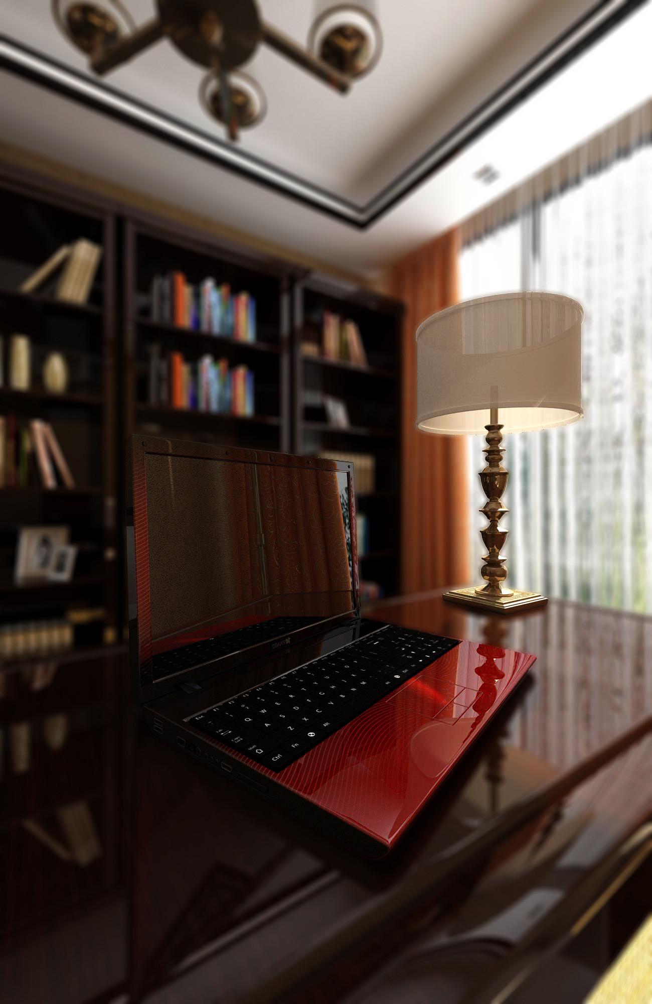 中式别墅装修书桌图片