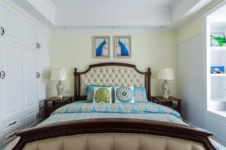 美式四居装修床头软包图片