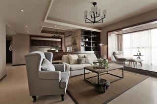 美式二居装修客厅设计图