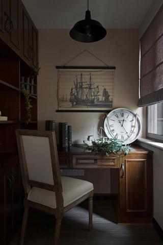 美式二居装修书房布置图