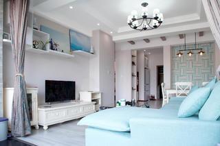 80平二居室设计电视柜图片