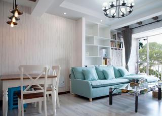 80平二居室沙发背景墙设计