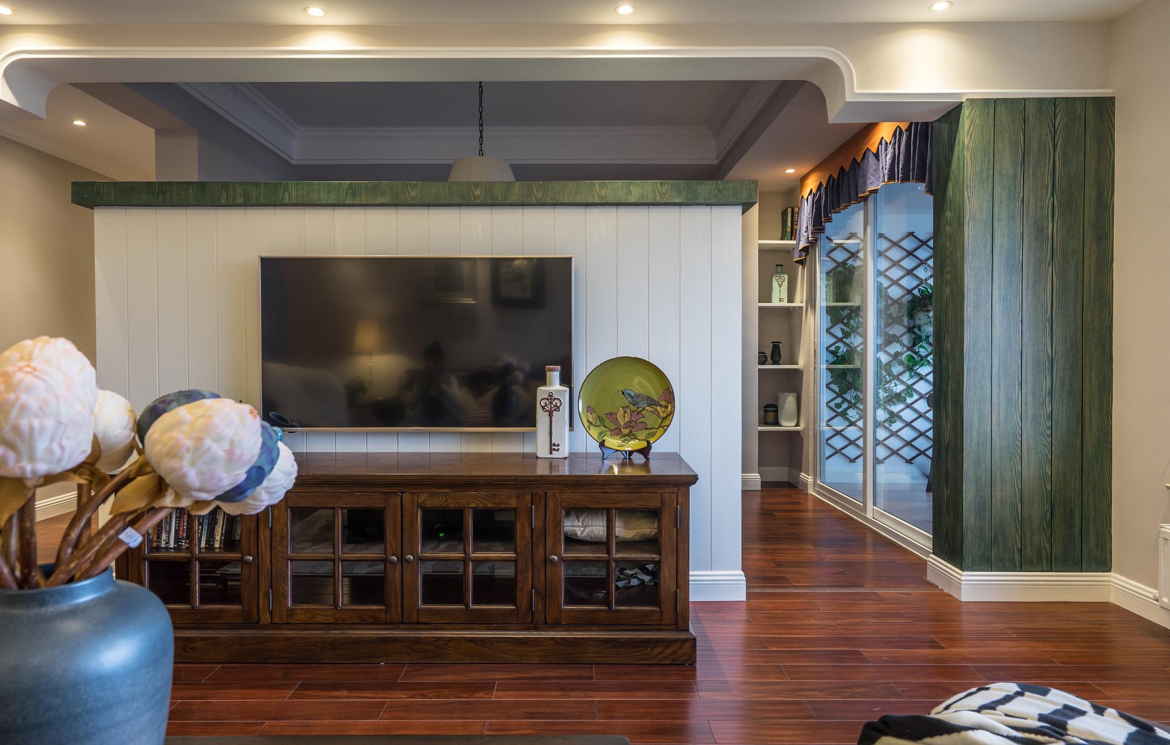 150平美式之家电视柜图片
