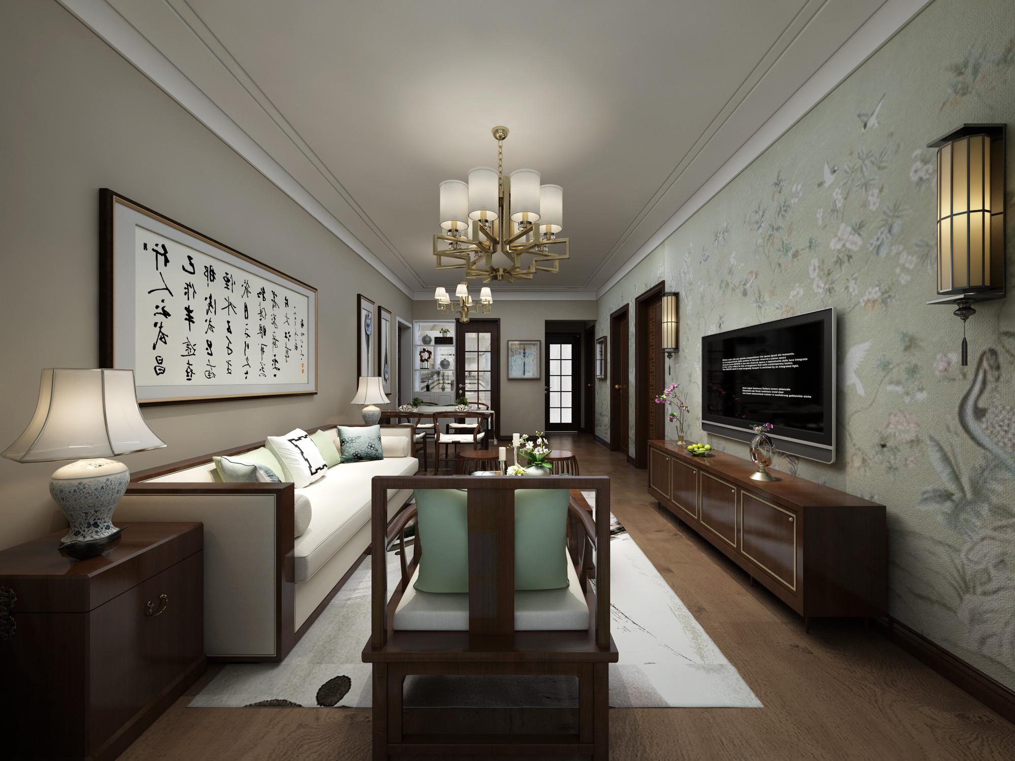 新中式装修沙发图片