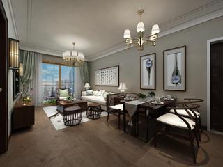 新中式装修客餐厅设计图