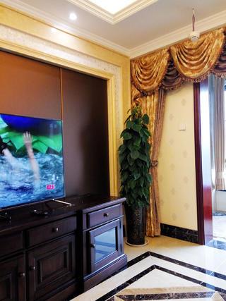 140平混搭风格装修电视背景墙图片