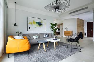 150平北欧风装修沙发背景墙图片