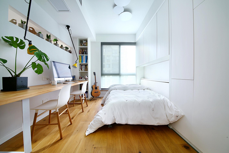 150平北欧风装修书房壁床设计