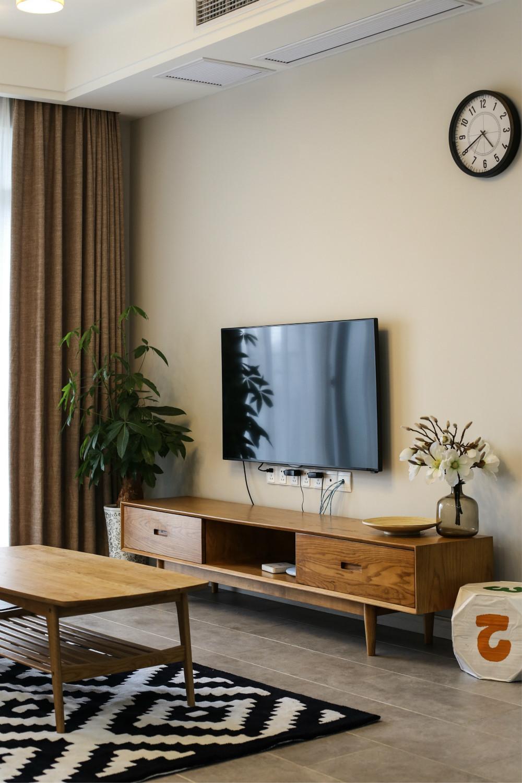 65平公寓装修电视背景墙图片