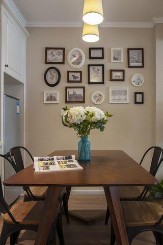 85平简美之家餐厅背景墙图片