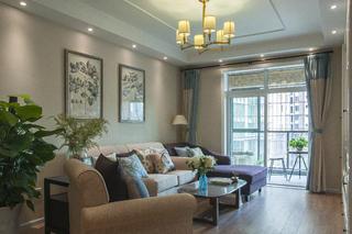 85平简美之家沙发背景墙图片