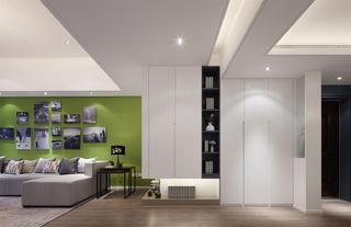 现代简约三居玄关柜设计
