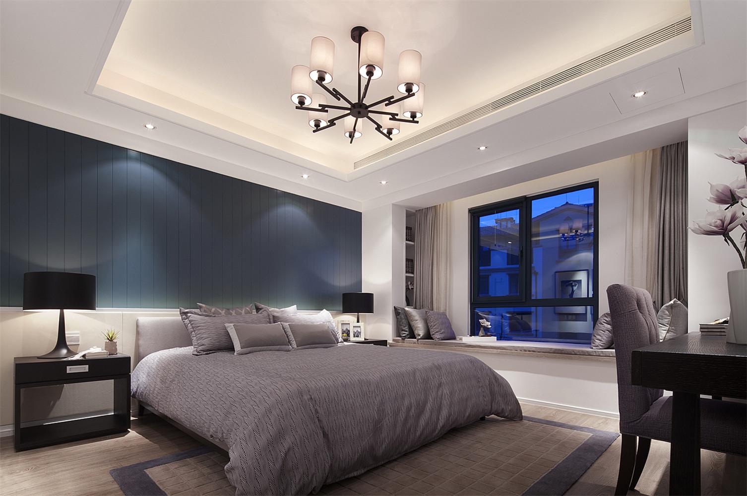 现代简约三居卧室效果图