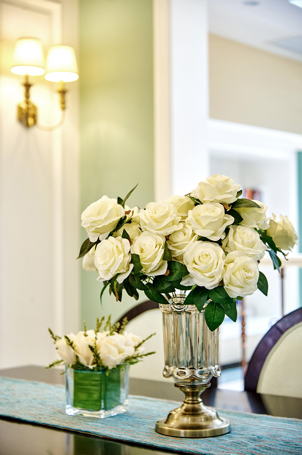 美式别墅装修装饰花图片