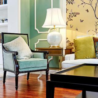 美式别墅装修沙发一角