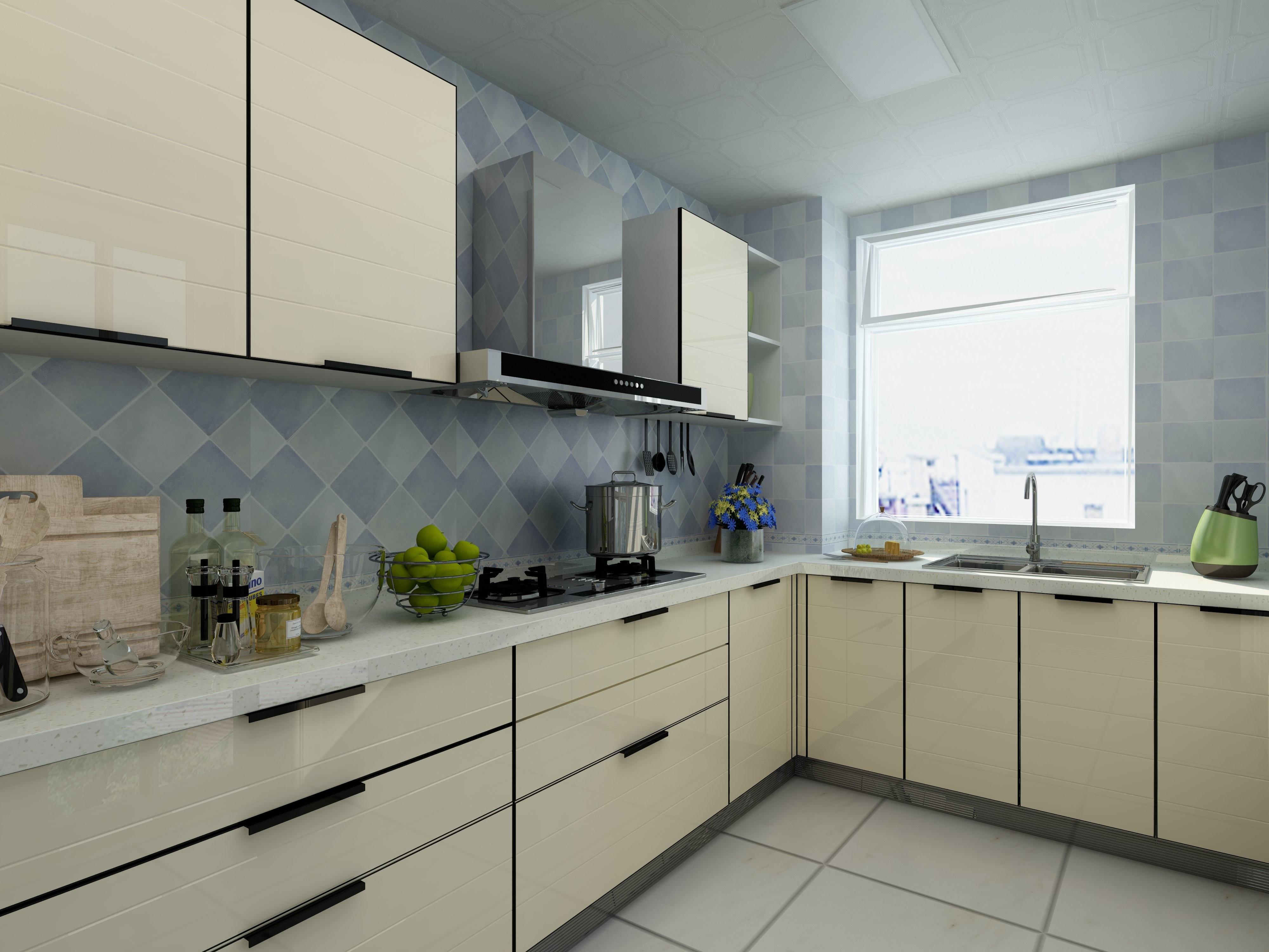 田园三居装修厨房效果图