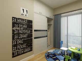 90平简约三居装修儿童房墙面设计