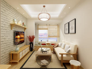 日式二居装修客厅效果图