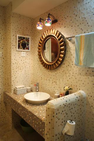 30平小户型装修洗手台图片