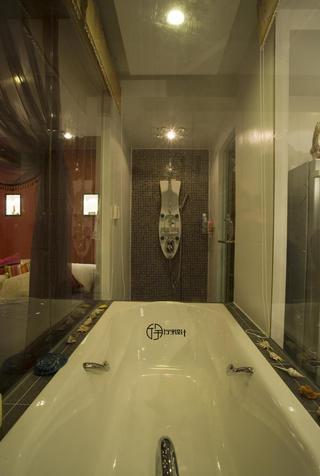 现代简约一居装修浴缸图片