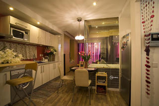 现代简约一居装修厨房布置图