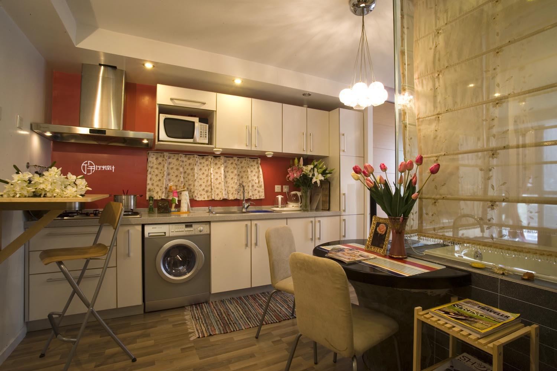 现代简约一居装修橱柜图片