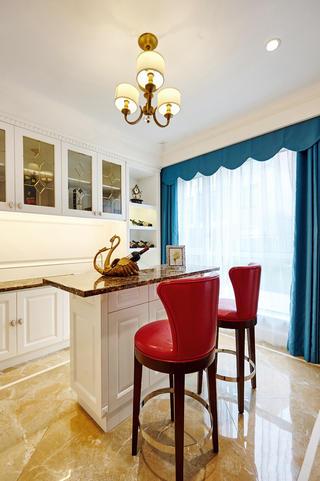 美式别墅装修吧台椅图片