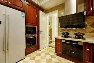 美式别墅装修厨房效果图