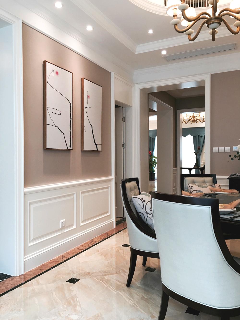 美式别墅装修餐厅背景墙图片