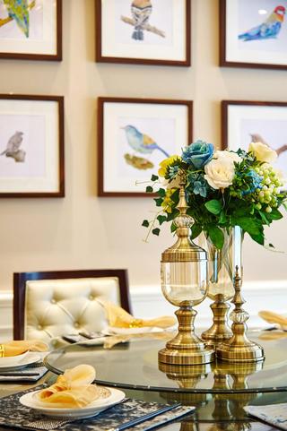 美式别墅装修餐桌摆件