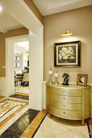 美式别墅装修玄关柜图片