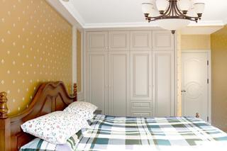 美式风格二居装修卧室搭配图