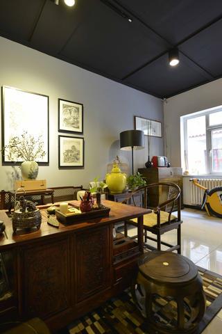 中式风格工作室装修茶桌图片