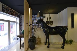 中式风格工作室装修造型落地灯图片
