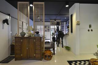 中式风格工作室装修玄关柜图片