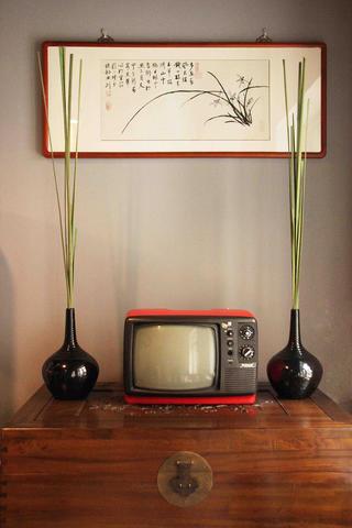 中式风格工作室装修电视柜图片