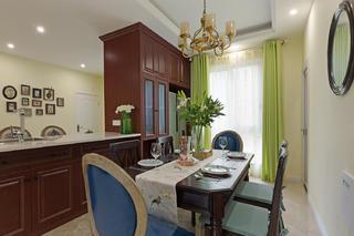 三居室美式风格家餐厅设计图