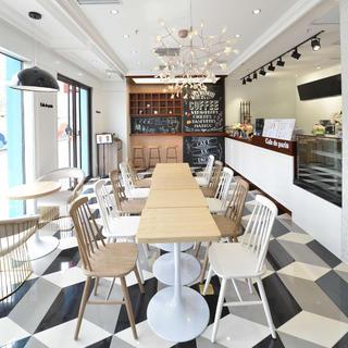 80平小清新咖啡饮品店装修设计图