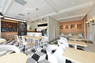 80平小清新咖啡厅装修整体效果图