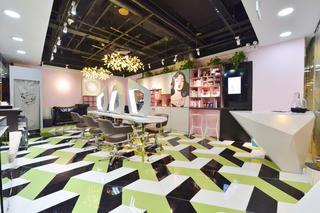 时尚前卫美妆店装修地面拼花设计
